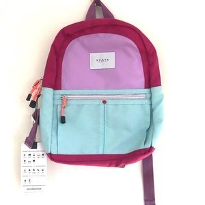 State Bags Mini Kane Backpack in Magenta Mint
